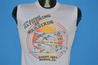 vintage 80s GATHERING OF WARBIRDS 15TH ANNUAL MADERA CA 1984 t-shirt SMALL S