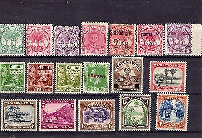 Samoa 1900-1940 range of MH + 1 item FU, short sets, singles