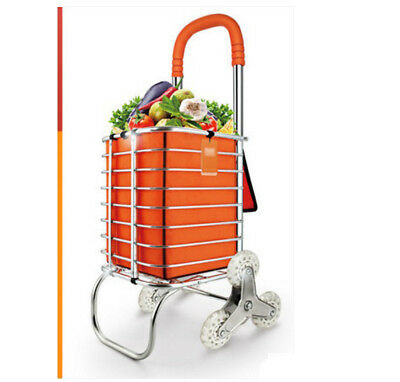 A74 Rugged Aluminium Luggage Trolley Hand Truck Folding Foldable Shopping Cart