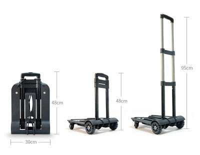 A39 Rugged Aluminium Luggage Trolley Hand Truck Folding Foldable Shopping Cart