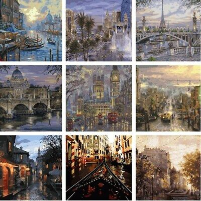 Scenery DIY Paint By Number Kit Acrylic Oil Painting On Canvas Art Home Decor