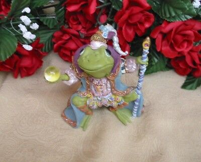 """1996 Royalty Prince Frog """"Wizard of Camelot"""" Camelot Frogs Collection, NO COA"""
