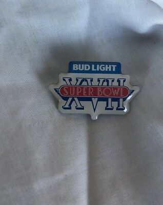 New Bud Light Super Bowl XVII Pin SB17 Dolphins Redskins