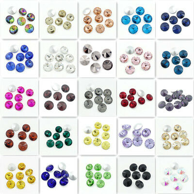 XILION ELEMENTS Rhinestone Crystal glass Rivoli Beads 6/8/10/12/14/16/18mm DIY