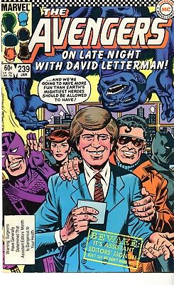 #2  Marvel  Comic The Avengers On Late Night With David Letterman! Vol 1 No 239
