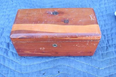 Early Salesman's Sample Cedar Chest Lane Mader Vintage Antique Jewelry Keepsake