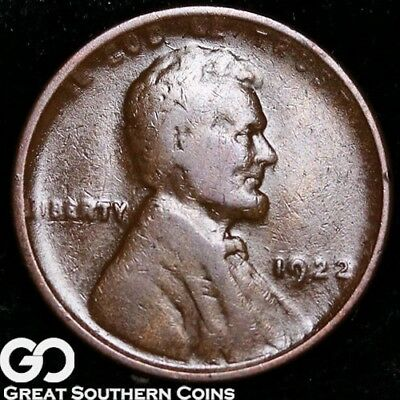 1922- NO D, Lincoln Cent Wheat Penny, STRONG Reverse, Coveted XF++ Key Date!