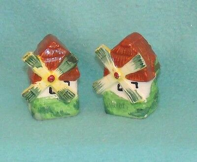 Vintage Windmill Salt and Pepper Shakers - Japan