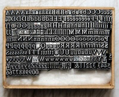 10pt Times Font  Metal  letterpress Type # ADANA EIGHT FIVE  8 x 5 #