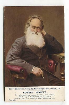 Robert Moffat - missionary, father-in-law of David Livingstone - early postcard