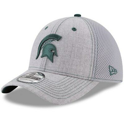 newest 243f9 23417 ... uk michigan state spartans new era neo 2 39thirty flex hat heathered  gray 03d40 81bd1