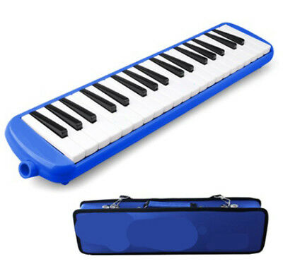 A01 37 Piano Keys Blue Musical Instrument Melodica Pianica With Carrying Bag O