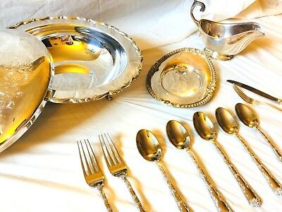 LOT Antique $150+ Worth Of Silverware Including WM Rogers & Son (Oneida) & Other