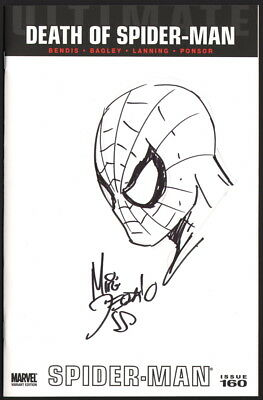 Mike Deodato Original Art Blank Sketch Cover Ultimate Spider-Man #160 ~ Death Of