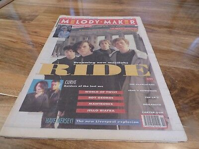 Melody Maker - 16/3/91, Ride / Boy George / Curve / Throwing Muses / Heavenly