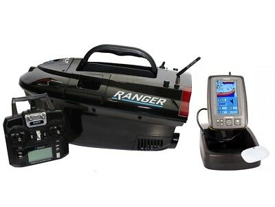 Cult Ranger Bait Boat *With Lithium Batteries* And Toslon TF640 Fish Finder