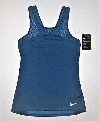 72256cd8d0bebd  45 Women s Nike Pro Hypercool Tank Top Industrial Blue M Medium 832056-457  Nwt