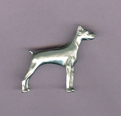Vintage SIGNED GERRYS Doberman Pinscher Pin Glowing Smooth Finish Dog