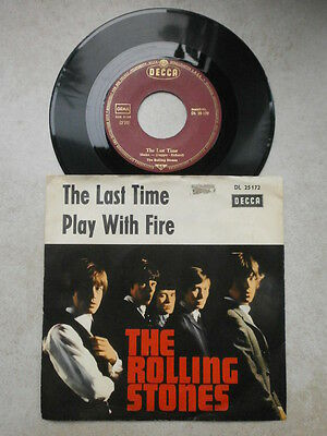 Single - Rolling Stones - The Last Time / Play with fire - Beat - 60er Jahre