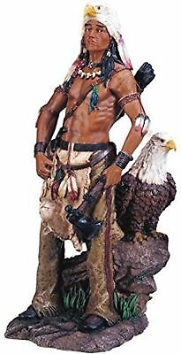 StealStreet Native American Warrior with Eagle Collectible Indian Figurine
