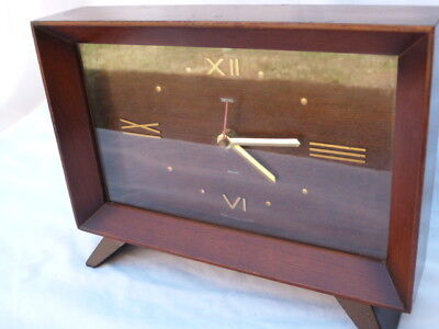 LOVELY VINTAGE RETRO 1950s SMITH SECTRIC MANTEL CLOCK