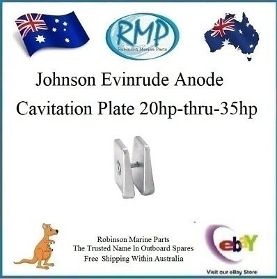 A Brand New Cavation Plate Anode Johnson Evinrude 20hp-thru-35hp 2/Stroke 434029