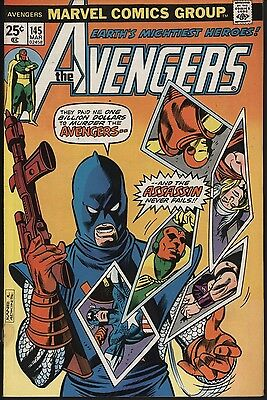 Avengers #145 Vf/nm Glossy Cents Copy Versus The Assassin!