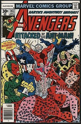 Avengers #161 Versus Ant-Man. Hot Book! Very Nice Vf+ Glossy Cents Copy Nice Pgs