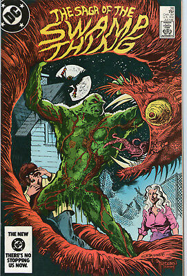 SWAMP THING # 26 - A TIME OF RUNNING ( MOORE SCRIPT - 2nd SERIES - SCARCE 1984 )