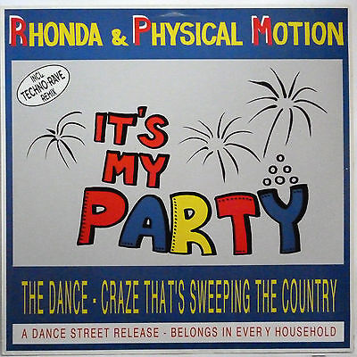 """Rhonda & Physical Motion -- It's My Party ---------- 12"""" Maxi Single"""