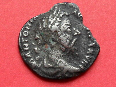 Roman silver Denarius coin of Marcus Aurelius 161-180 A D metal detecting find
