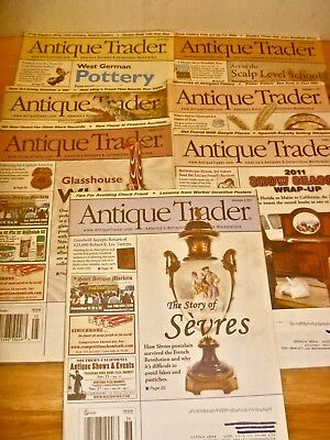 Antique Trader 7 magazines 2011 West German Pottery Sevres Klein PA art