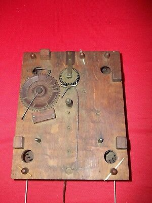 SPECIAL GREAT Looking  Wood Wooden Works Weight Clock Movement