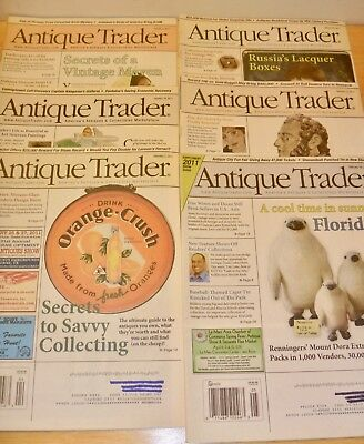 Antique Trader 6 magazines 2011 McCoy Vintage Maven Folk Art Laquer Boxes