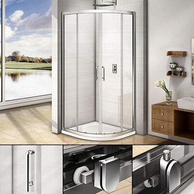 Quadrant Shower Enclosure Walk In Cubicle Door and Tray Plinth 800x800 900x900mm