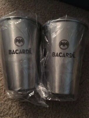 Bacardi Stainless Steel Cups (4 ) new
