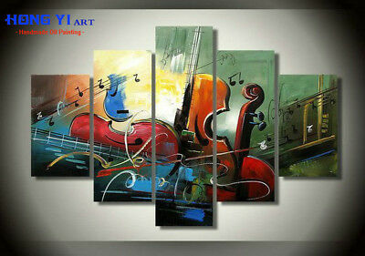 Large Modern Wall Art Music ABSTRACT OIL PAINTING Canvas Living Room Decor mus23