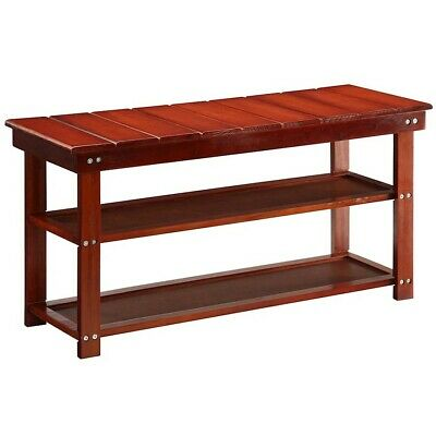 Convenience Concepts Oxford Utility Mudroom Bench, Cherry - 203300CH
