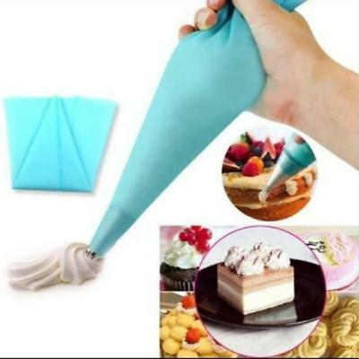 Reusable Silicone Icing Piping Cream Pastry Dessert Decorator Bag for Cake Tool