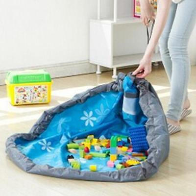 Portable Kids Toys Organizer Storage Bag Play Mat For Rug Toy Box B