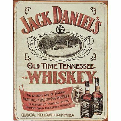 Jack Daniels - Sippin Whiskey Vintage Tin Sign 13 x 16in
