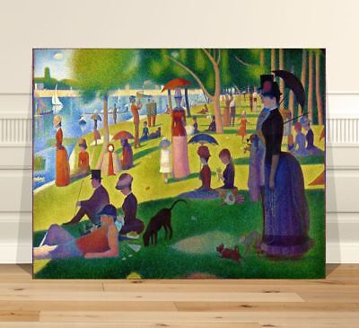 "Georges  Seurat Sunday Afternoon~ CANVAS PRINT 16x12"" ~  Classic Pointalism Art"