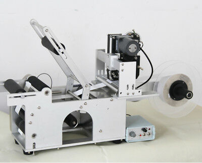 LT-50D Semi-automatic Round Bottle Labeling Machine With Date Code Printer 110V
