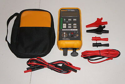 FLUKE 718-1G PRESSURE CALIBRATOR -1 to 1 PSI W TL75 STACKABLE LEADS & CLIPS USED