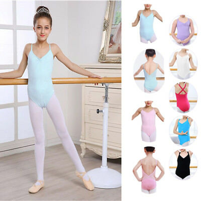 Kid Girl's Ballet Leotard Dress Candy Color Breathable Seamless Stretchy Costume