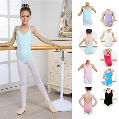 Seamless Stretchy Girl's Ballet Leotard Dress Multicolor Perfect Gift for Kids