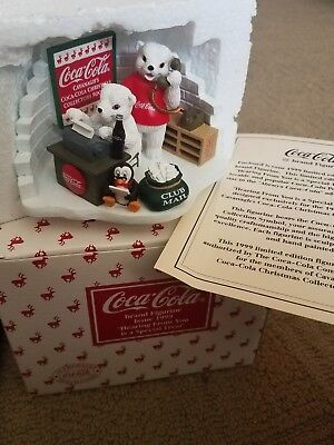 1999 Coca Cola Figure Hearing From You is a Special Treat Polar Bears