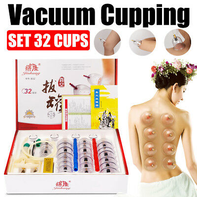 32pc/12pc Chinese Cupping Vacuum Massage Medical Therapy Health Acupuncture Set
