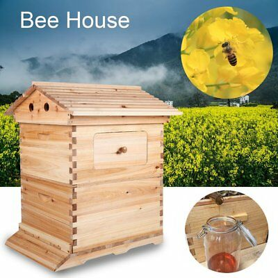 Pinewood Bee Hives Box Wooden Beekeeping Beehive Honey Harvest House Box AUS NEW