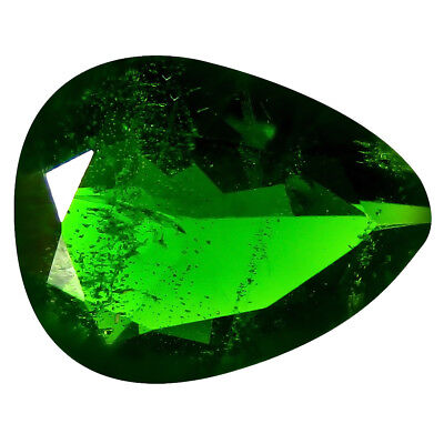 4.22 ct AAA Attractive Pear Shape (13 x 10 mm) Green Chrome Diopside Gemstone